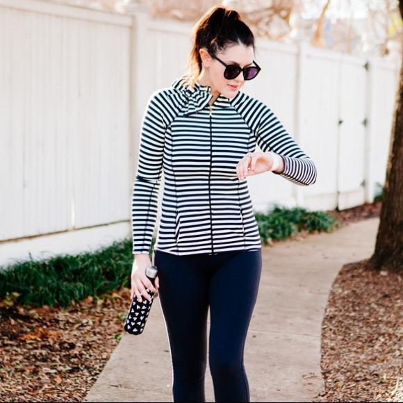 Kate Spade Beyond Yoga striped athletic jacket